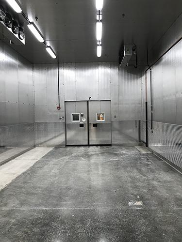 School District Upgrades To Walk In Cooler With Electric Doors