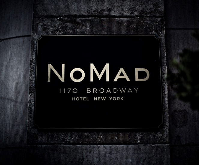 NoMad Sign on Building