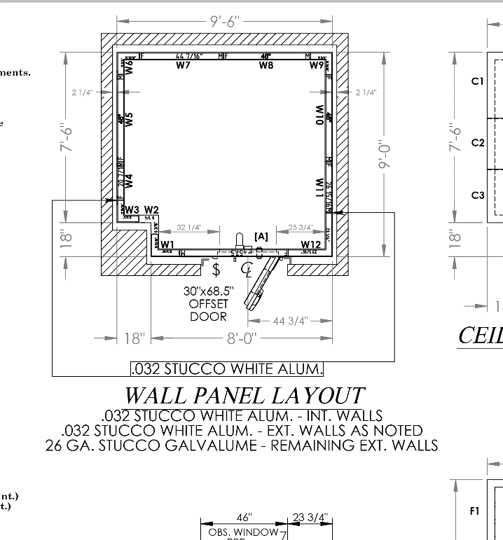 Drawing for NoMad Walk-in Cooler